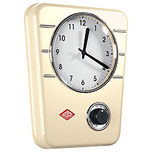 Buy Wesco Steel Wall Clock and Kitchen Timer, H30.5 x W24.5cm Online at johnlewis.com