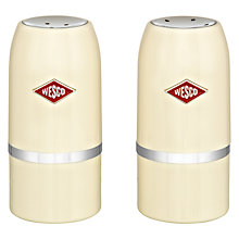 Buy Wesco Salt and Pepper Shaker Set, Almond Online at johnlewis.com