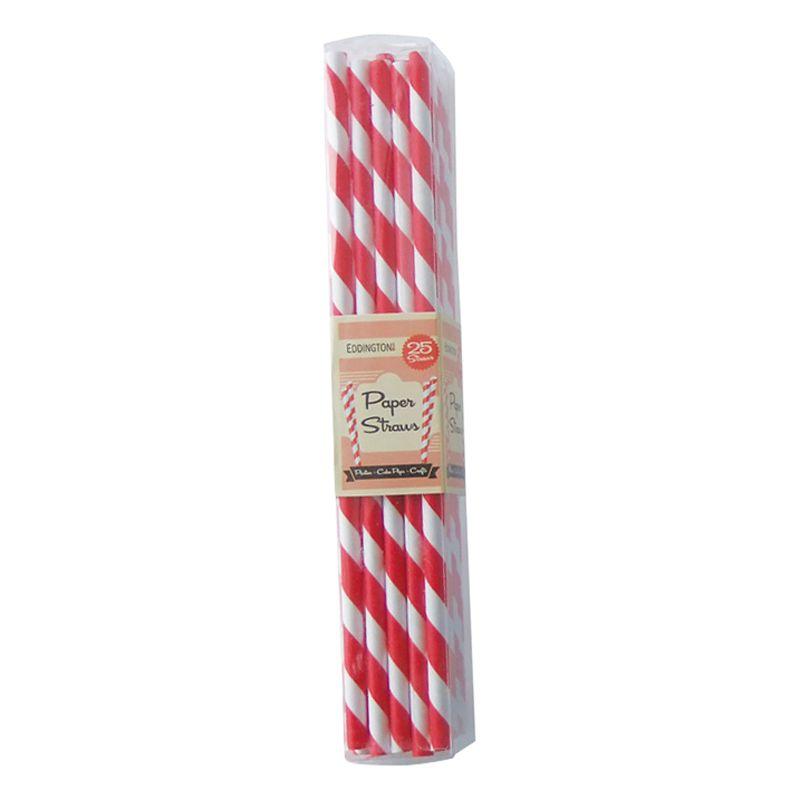 Eddingtons Striped Paper Straws, Pack of 25