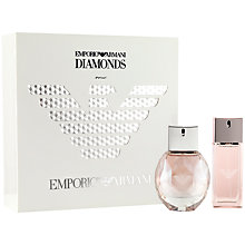 Buy Emporio Armani Diamonds Rose Eau de Toilette Gift Set, 50ml Online at johnlewis.com