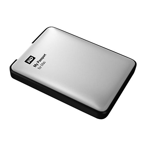 Buy WD My Passport for Mac Portable Hard Drive, USB 3.0, 1TB, Silver Online at johnlewis.com