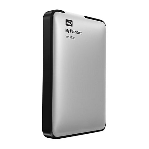 Buy WD My Passport for Mac Portable Hard Drive, USB 3.0, 500GB, Silver Online at johnlewis.com