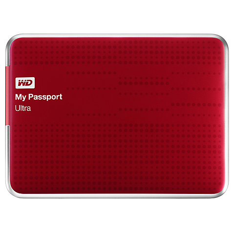 Buy WD My Passport Ultra Portable Hard Drive, USB 3.0, 2TB Online at johnlewis.com