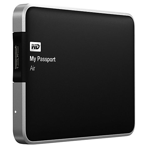 Buy WD My Passport Air, Portable Hard Drive for Mac, USB 3.0, 1TB Online at johnlewis.com