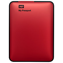 Buy WD My Passport Portable Hard Drive, USB 3.0, 2TB Online at johnlewis.com