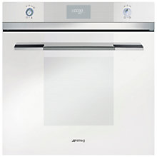 Buy Smeg SFP109B Single Electric Oven, White Glass Online at johnlewis.com