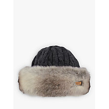 Buy Barts Faux Fur Cable Bandhat, One Size Online at johnlewis.com