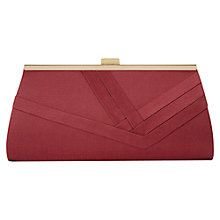 Buy Alexon Shimmer Pleated Clutch Bag, Pink Online at johnlewis.com