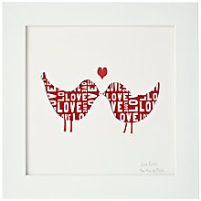 Buy Bertie & Jack Personalised 'Love Birds' Framed Cut-out, 27.4 x 27.4cm Online at johnlewis.com