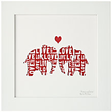 Buy Bertie & Jack Personalised 'Always and Forever' Framed Cut-out, 27.4 x 27.4cm Online at johnlewis.com
