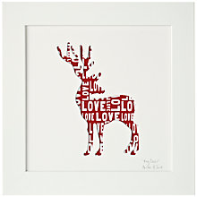 Buy Bertie & Jack Personalised 'My Deer' Framed Cut-out, 27.4 x 27.4cm Online at johnlewis.com