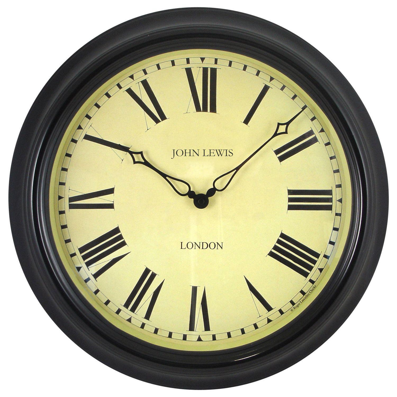 Lascelles Lascelles Personalised Case Clock, Dia.45cm, Black