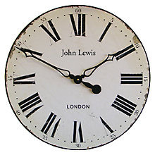 Buy Lascellles Paper Face Wall Clock, Dia.50cm Online at johnlewis.com