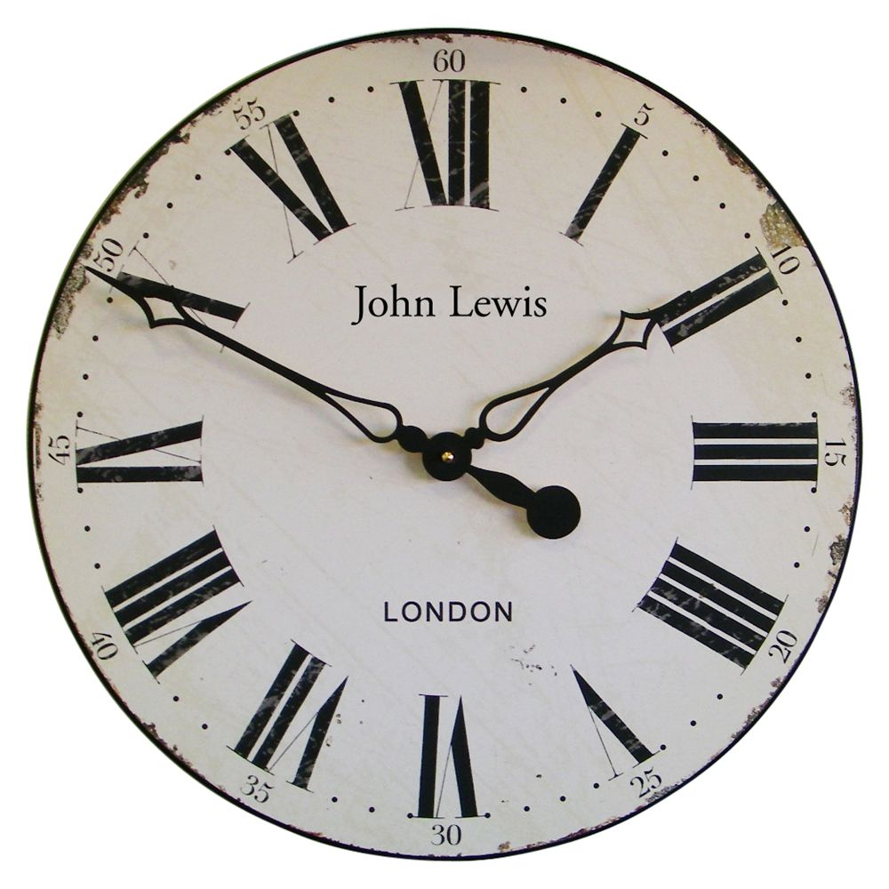 Lascelles Lascelles Personalised Paper Face Wall Clock, Dia.50cm