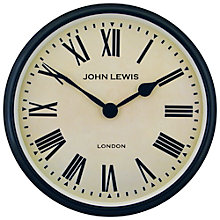 Buy Lascelles Personalised Case Clock, Dia.50cm, Black Online at johnlewis.com