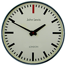 Buy Lascelles Personalised Case Clock, Dia.60cm, Chrome Online at johnlewis.com
