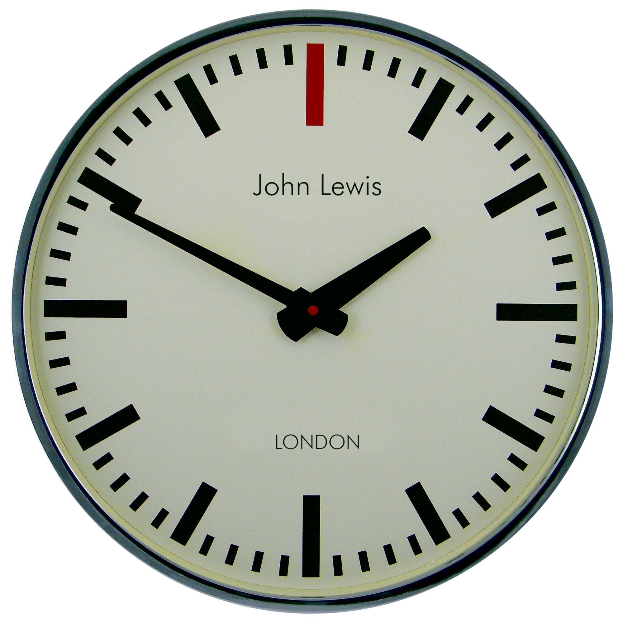 Lascelles Lascelles Personalised Case Clock, Dia.45cm, Chrome