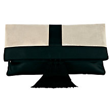Buy Coast Manhattan Clutch, Black / Ivory Online at johnlewis.com