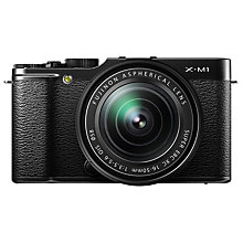 "Buy Fujifilm X-M1 Compact System Camera with 16-50mm IS Len, HD 1080p, 16.3MP, Wi-Fi, 3"" LCD Screen with Memory Card Online at johnlewis.com"