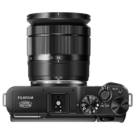 "Buy Fujifilm X-M1 Compact System Camera with 16-50mm IS Lens, HD 1080p, 16.3MP, Wi-Fi, 3"" LCD Screen Online at johnlewis.com"