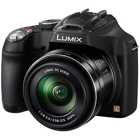 "Buy Panasonic Lumix DMC-FZ72 Bridge Camera, HD 1080p, 16.1MP, 60x Optical Zoom, 3"" LCD Screen, Black Online at johnlewis.com"