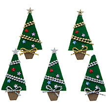 Buy John Lewis Christmas Tree Paper Toppers, Pack of 5 Online at johnlewis.com