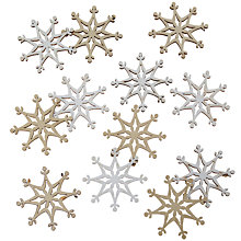 Buy John Lewis Wooden Snowflake Paper Toppers, Pack of 12 Online at johnlewis.com