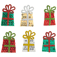 Buy John Lewis Sparkle Present Paper Toppers, Pack of 6 Online at johnlewis.com