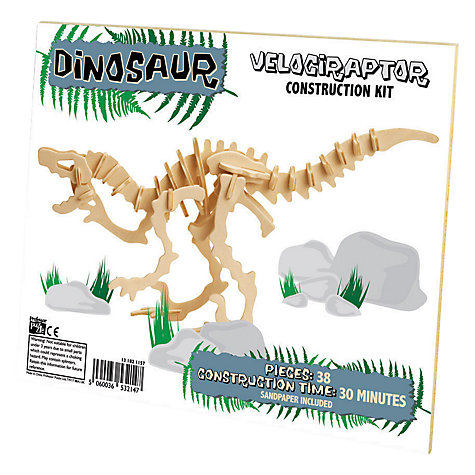 Buy Professor Puzzle Velociraptor Construction Kit Online at johnlewis.com