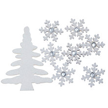 Buy John Lewis Glitter Tree and Snowflake Paper Toppers, Pack of 10 Online at johnlewis.com