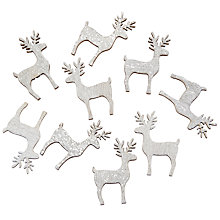 Buy John Lewis Glitter Reindeer Paper Toppers, Pack of 9 Online at johnlewis.com