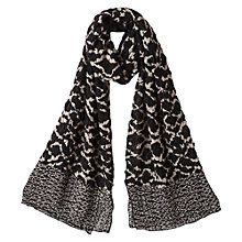 Buy East Terra Print Scarf, Black Online at johnlewis.com