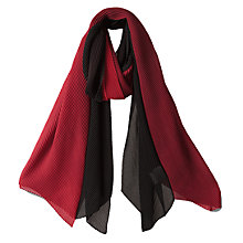 Buy East Pleated Scarf, Scarlet Online at johnlewis.com