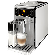 Buy Saeco HD8966/08 GranBaristo Bean-to-Cup Coffee Machine, White Online at johnlewis.com