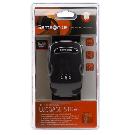 Buy Samsonite 3-Digit Combi Locking Strap Online at johnlewis.com
