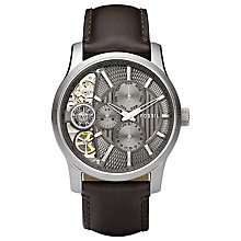 Buy Fossil Men's Mechanical Skeleton Dial Chronograph Watch Online at johnlewis.com
