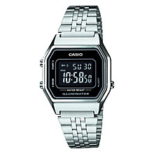 Buy Casio LA680WEA-1BEF Unisex Digital Stainless Steel Bracelet Watch, Silver Online at johnlewis.com