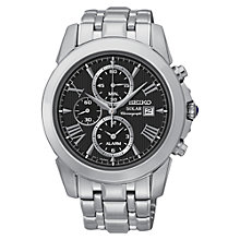 Buy Seiko SSC193P9 Men's Coutura Chronograph Watch, Black Online at johnlewis.com