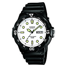 Buy Casio MRW-200H-7EVEF Men's Date And Day Watch, Black Online at johnlewis.com