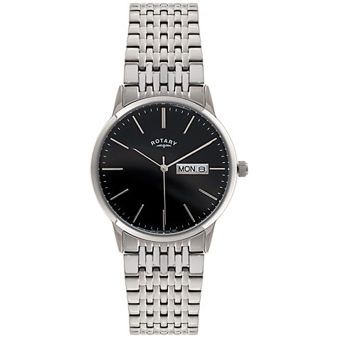 Buy Rotary GB02750/10 Men's Stainless Streel Day / Date Bracelet Watch, Silver Online at johnlewis.com