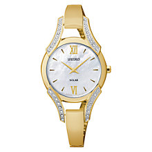 Buy Seiko SUP216P1 Women's Mother of Pearl Bracelet Watch, Gold Online at johnlewis.com