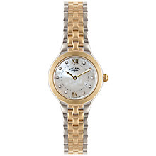 Buy Rotary LB02761/41 Women's Two-Tone Bracelet Watch, Rose Gold Online at johnlewis.com