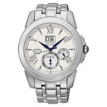 Buy Seiko SN065P9 Men's Chronograph Watch, Silver Online at johnlewis.com