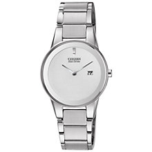 Buy Citizen GA1050-51A Women's Axiom Eco-Drive Stainless Steel Watch Online at johnlewis.com