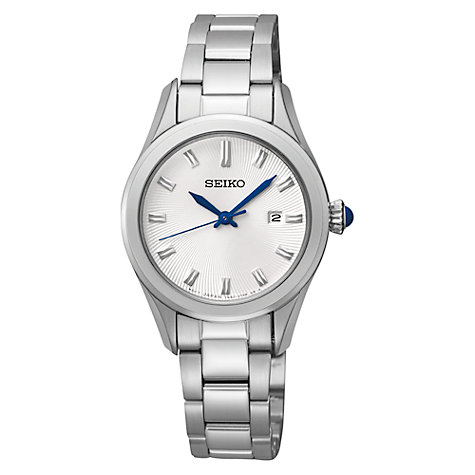 Buy Seiko SXDF67P1 Women's Stainless Steel Bracelet Watch, Silver Online at johnlewis.com