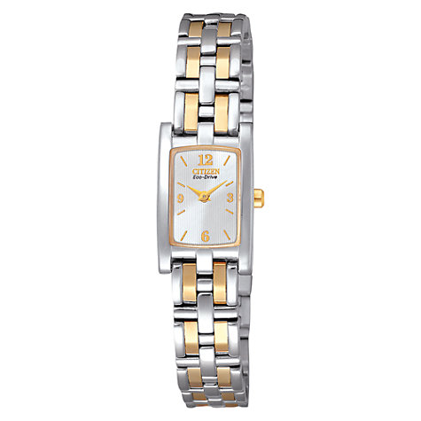 Buy Citizen EG2344-51A Women's Silhouette Two Tone Stainless Steel Bracelet Watch Online at johnlewis.com