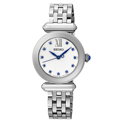 Buy Seiko SRZ399P1 Women's Stone Set Stainless Steel Bracelet Watch Online at johnlewis.com