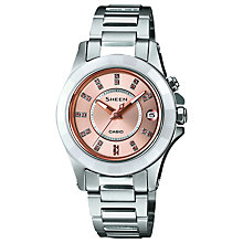 Buy Casio SHE-4509SG-4AER Women's Sheen Stainless Steel Bracelet Watch Online at johnlewis.com