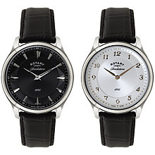 Buy Rotary GS02965/04/22 Men's  Les Originales Revelations Watch, Black / Silver Online at johnlewis.com