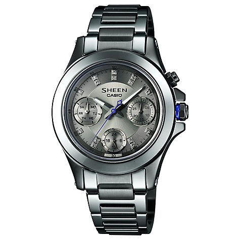 Buy Casio SHE-3503D-8AER Women's Sheen Titanium Ceramic Bracelet Watch Online at johnlewis.com